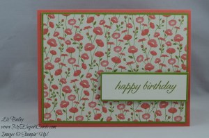 Stampin' Up! Pretty Petals DSP stack and Birthday Blossoms