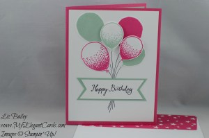 Stampin' Up! Balloon Celebration and Balloon Bouquet Punch and Party Pop-up thinlits dies and It's My Party DSP stack