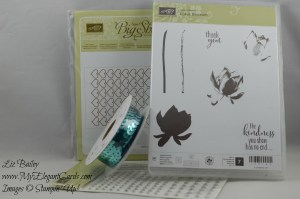 Stampin' Up! Lotus Blossom and Heappy Heart TIEF and Jewels basic rhinestone and sequin trim