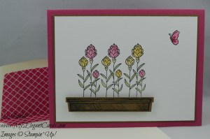 Stampin' Up! Flowering Fields and Happy Home and Hearth & Home thinlits dies