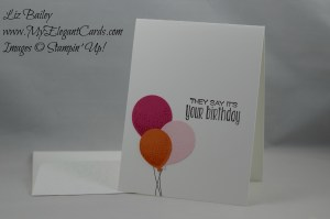 Stampin' Up! Balloon Celebration and Suite Sayings