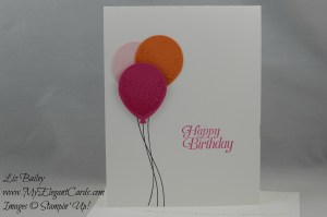 Stampin' Up! Balloon Celebration and Sky is the limit and Softly Fallling TIEF