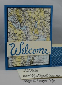 Stampin' Up! World Map and Welcome Words
