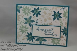 Stampin' Up! Watercolor Wishes and Blooms and Bliss DSP