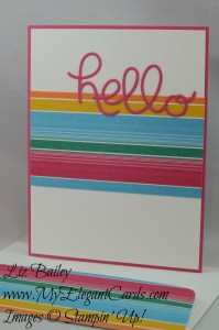 Stampin' Up! Festive Birthdays DSP and Hello You thinlits