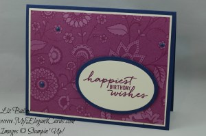 Stampin' Up! Petals and Paisleys Specialty DSP and Watercolor Wishes