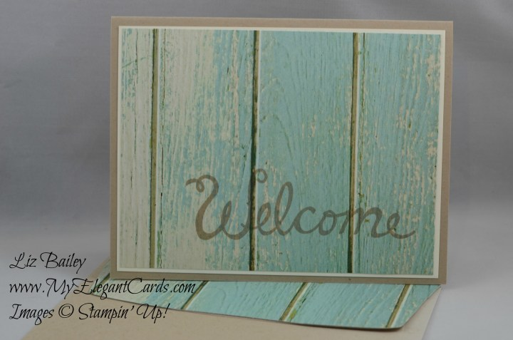 Stampin' Up! Serene Scenery DSP stack and Welcome Words