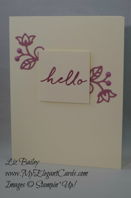 Stampin' Up! Flourish thinlits and Watercolor Wishes