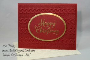 Liz Bailey Stampin' Up! Demonstrator - Cable Knit Dynamic TIEF - Stitched Shapes Framelits dies - Oh, What Fun