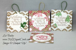 Liz Bailey Stampin' Up! Demonstrator - Candy Cane Christmas - Candy Cane Lane DSP - Baker's Twine Trio Pack
