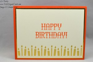 Liz Bailey Stampin' Up! Demonstrator - Candle Border Punch - Window Shopping