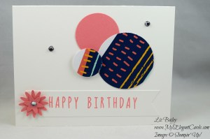 Paper Pumpkin February 2017 Alternative - Many Happy Birthdays - Blossom Bunch punch - Triple Banner punch