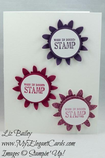 Liz Bailey Stampin' Up! Demonstrator - Designer Tee - Flower Fair framelits dies