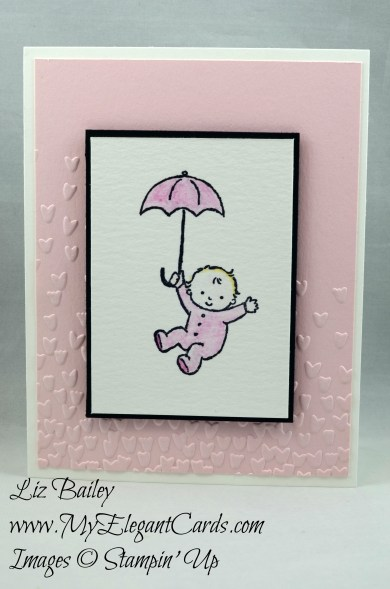 Liz Bailey Stampin' Up! Demonstrator - Moon Baby - Falling Petals TIEF