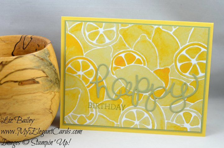 Liz Bailey Stampin' Up! Demonstrator - Fruit Stand DSP - Crazy about You - Hello You Thinlits Dies