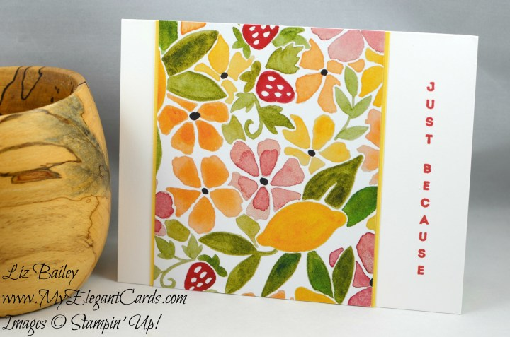 Liz Bailey Stampin' Up! Demonstrator - Fruit Stand Designer Series Paper - Vertical Greetings