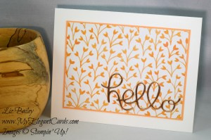Liz Bailey Stampin' Up! Demonstrator - Hello You Thinlits Dies
