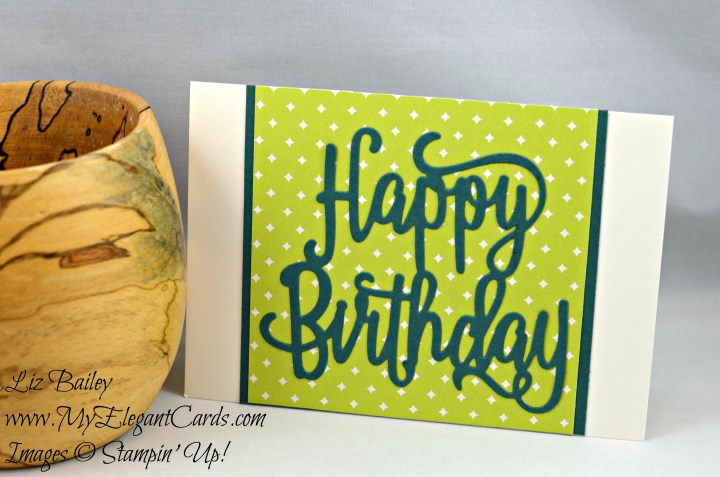 Liz Bailey Stampin' Up! Demonstrator - Happy Birthday Thinlits Die - Eastern Palace Specialty DSP