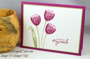 Liz Bailey Stampin' Up! Demonstrator - Tranquil Tulips - Bunch of Blossoms