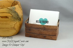 Liz Bailey Stampin' Up! Demonstrator - Wood Crate Framelits Dies - Wood Words