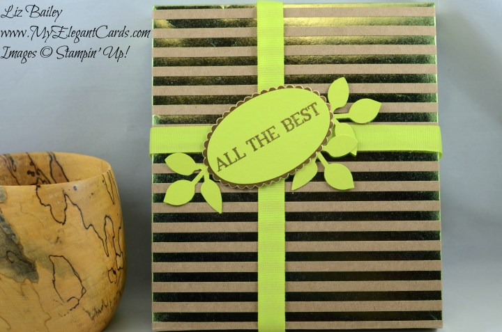 Liz Bailey Stampin' Up! Demonstrator - Foil Frenzy Specialty DSP - Better Together - leaf punch