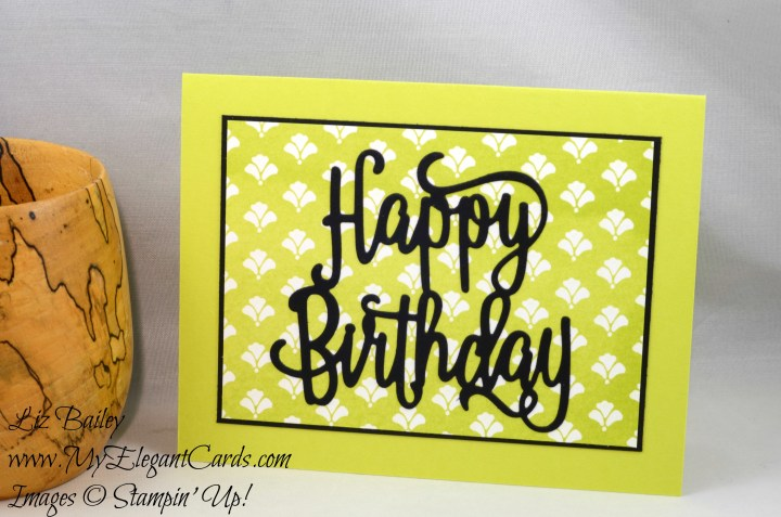 Liz Bailey Stampin' Up! Demonstrator - Happy Birthday Thinlits Die - Fresh Florals DSP stack
