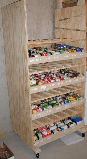DIY Rotating Canned Food Shelf