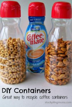 Recycle offee creamer containers
