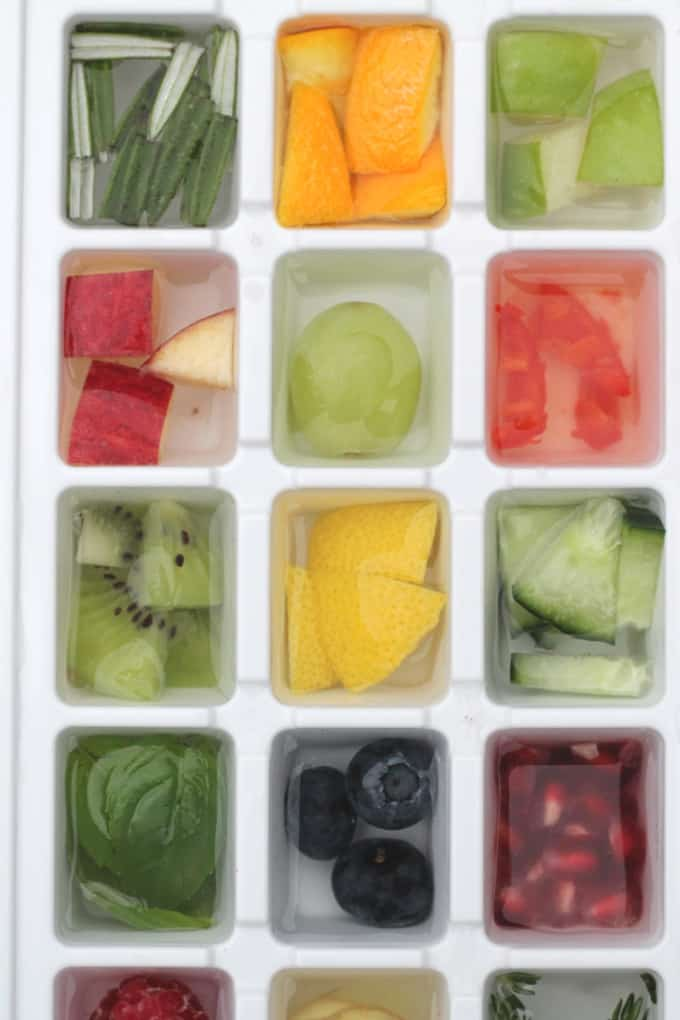 ice cubes made with fruit