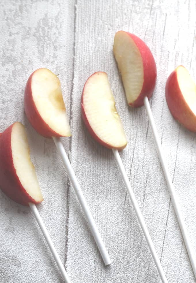 apples on a stick