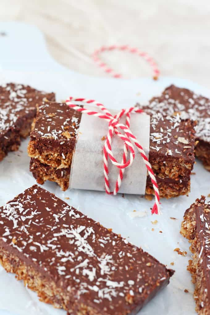 Packed full of nutritious ingredients, these Chocolate Coconut Flapjacks make a delicious, healthy and filling snack for the whole family!