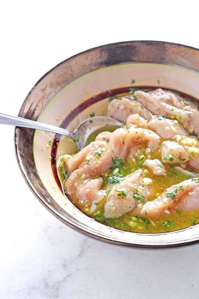 garlic herb stock cube chicken marinade