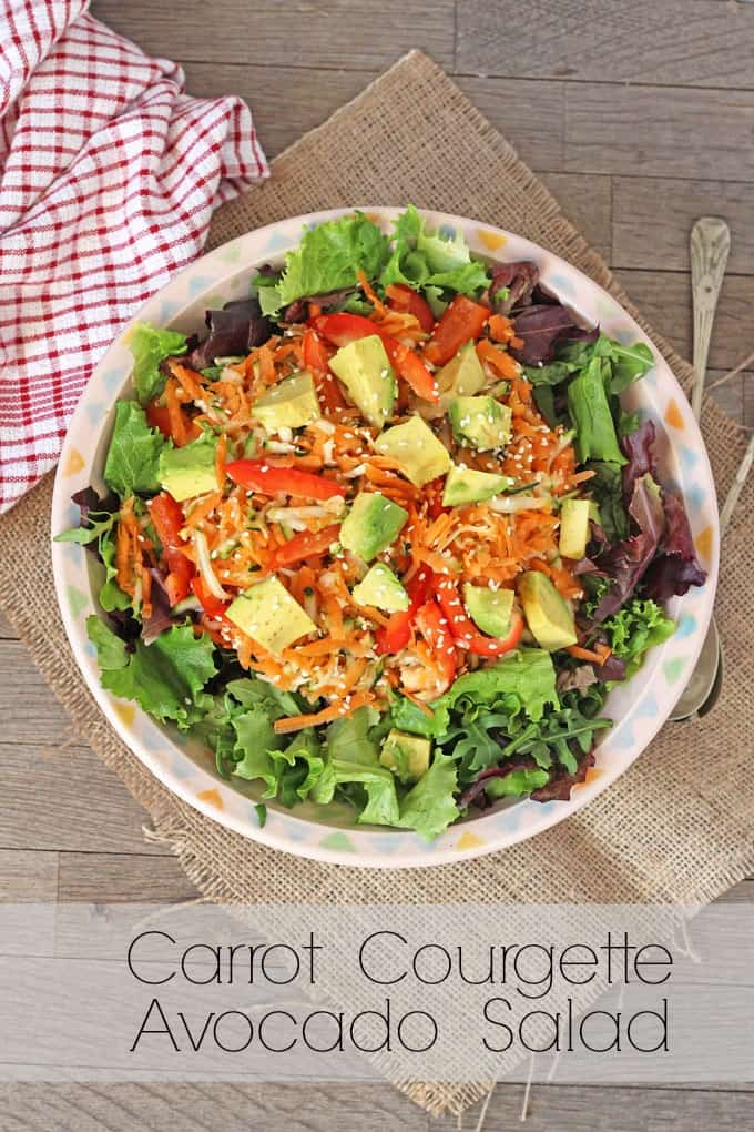 A delicious and fresh salad, made with carrot, courgette and avocado. Perfect for summer! | My Fussy Eater Blog