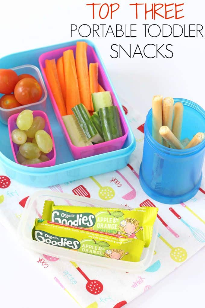 Check out my top three snacks to take on the go for toddlers! | My Fussy Eater blog