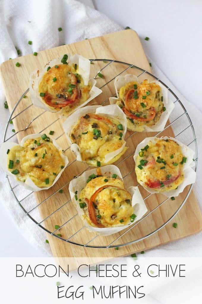 ... Muffins packed with streaky bacon, cheddar cheese and chives! | My