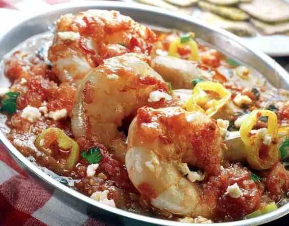 Greek Shrimp Saganaki recipe with Feta cheese (Garides Saganaki) - My ...