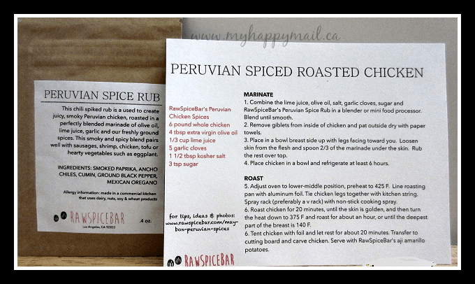Peruvian Spiced Chicken