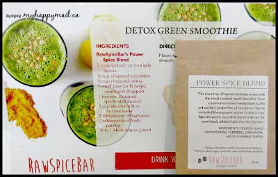 Raw Spice Bar Subscription Box The Baltimore Spice Box Detox Green Smoothie