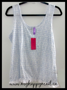 Wantable Intimates August 2015 Review Clothing Subscription Box Nomad Ruffle Trim Tank Top Dreamwave Pajama Drama