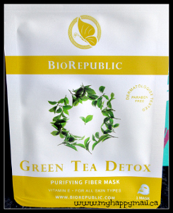 Birchbox September 2015 Review BioRepublic Green Tea Detox Purifying Fiber Mask