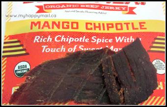 Jerky Snob Review Artisan Jerky Subscription Box Card Review Sweet Meat Mango Chipotle Organic Beef Jerky Jerky