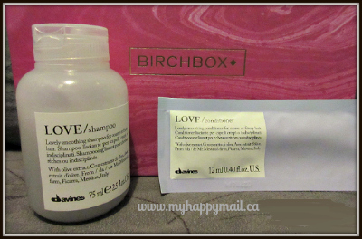 Birchbox Canada Review October 2015 Davines Love Shampoo and Conditioner