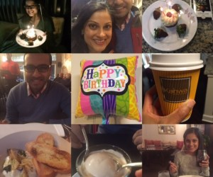 A photo collage of the things that I did on my 32nd birthday