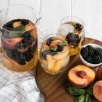 Blackberry Peach Sangria with Elderflower   My Kitchen Love