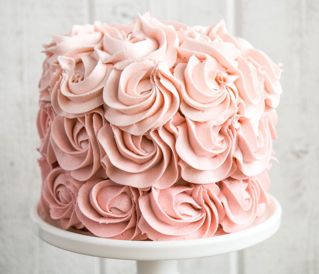 How to Make an Ombré Rosette Cake