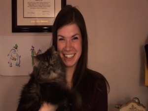 Amy and Perky from Love Your Cat video