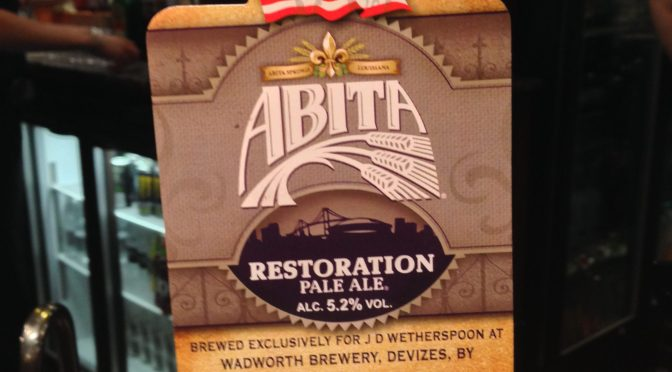 Restoration Pale Ale - Abita (Wadworth) Brewery