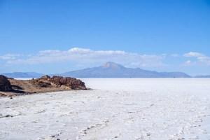 salt flat mountain
