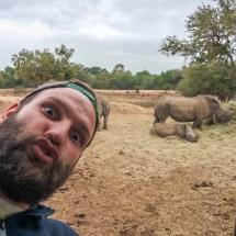 rhino selfie