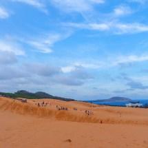red sand dunes ocean
